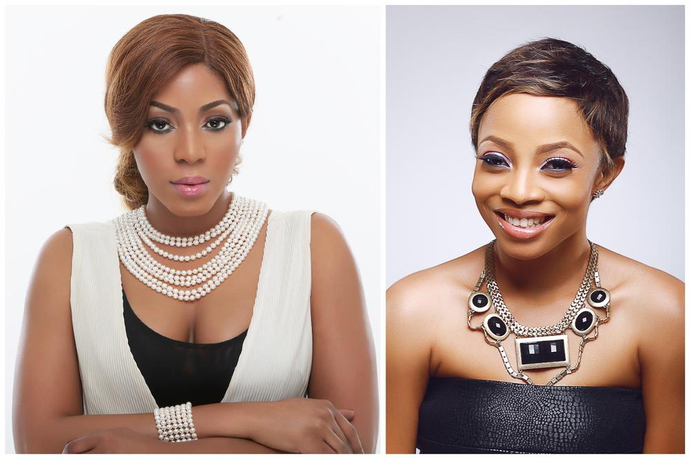 Entrepreneur Jennifer Olize & Media Personality Toke Makinwa rocking wigs