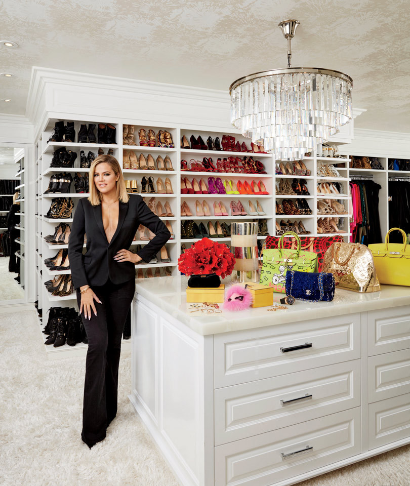 Khloe in her Shoe Closet