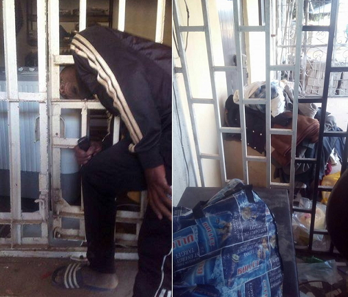 robber stuck in burglary proof gate jos plateau state 1