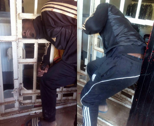 robber stuck in burglary proof gate jos plateau state 2