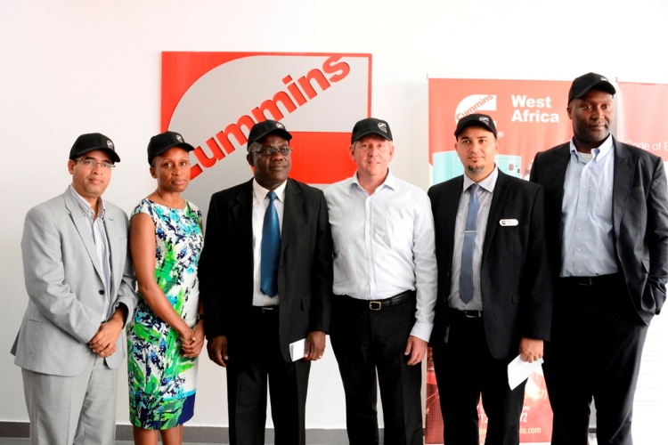 L-R Alok Joshi; Director Power Generation Cummins Africa, Racheal Njoroge ; Facility Manager Cummins Africa, Kwame Gyan-Tawiah; Director Cummins West Africa Ltd, Andrew Alfred Tallentyre; Director Finance Cummins Africa, Mark Oni Okeke; Regional sales Manager and Okechi Igwebuike; General Manager Power Generation Cummins West Africa Limited at the opening of Cummins new showroom at Akin Adesola, VI, Lagos.