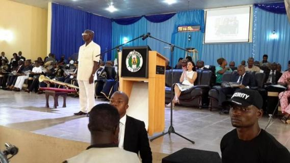 BENIN :Edo State Governor Adams Oshiomhole conferred with Honorary Degree in Public Administration