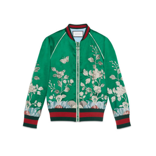 888-Rihannas-New-York-City-Gucci-Spring-2016-Green-Floral-Embroidered-Track-Jacket-and-Pants