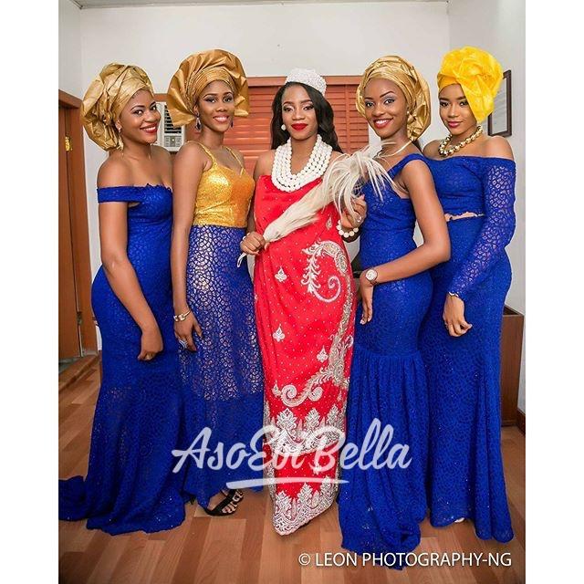 @_ezim and her bridesmaids, photo by @leonphotographyng
