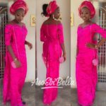 @mz_oludee, outfit by @viachiafashion_collection, makeup by @naphybeautymakeovers_aso ebi, asoebi