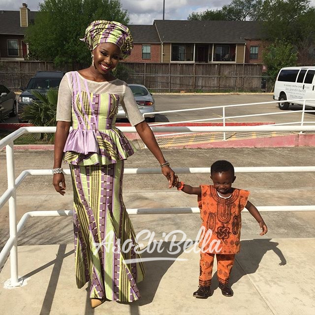 @theglammed and her baby, outfit by @teeons