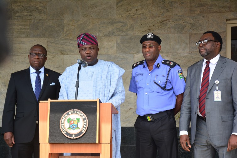 Akinwunmi Ambode Addressing Press at State House, Alausa