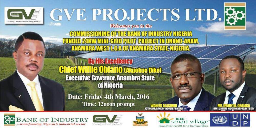 BOI and GVE Projects Limited - Anambra
