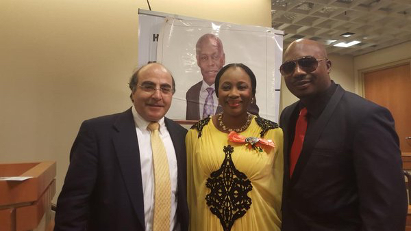 Clarion Chukwurah receives Danny Glover award in Harlem with new Husband_March 2016__7