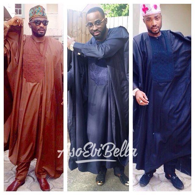 Davies brothers! #Agbada gang - @admiral_td (Tosin Davies) @ayoluvmi (Ayo Davies) @adetkb1 (Tokunbo Davies)
