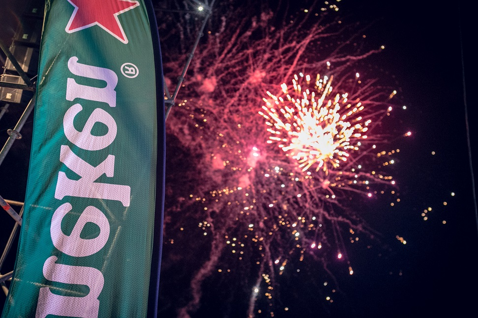 Fireworks at #HeinekenGidiFest