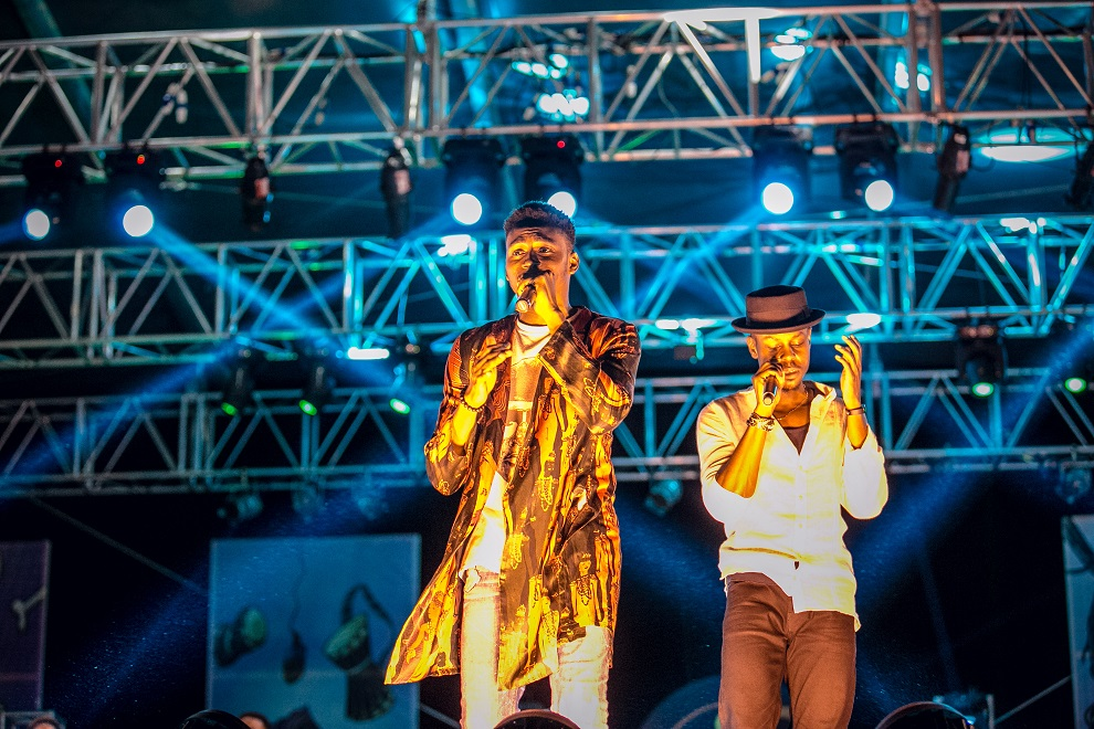 Funbi and Poe performing at #HeinekenGidiFest