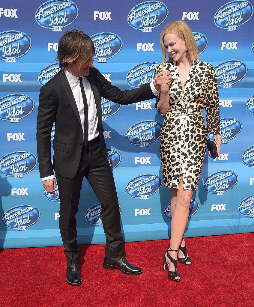 "HOLLYWOOD, CA - MAY 13: Keith Urban and Nicole Kidman attend the ""American Idol"" XIV Grand Finale event at the Dolby Theatre on May 13, 2015 in Hollywood, California. (Photo by Jason Kempin/Getty Images)"
