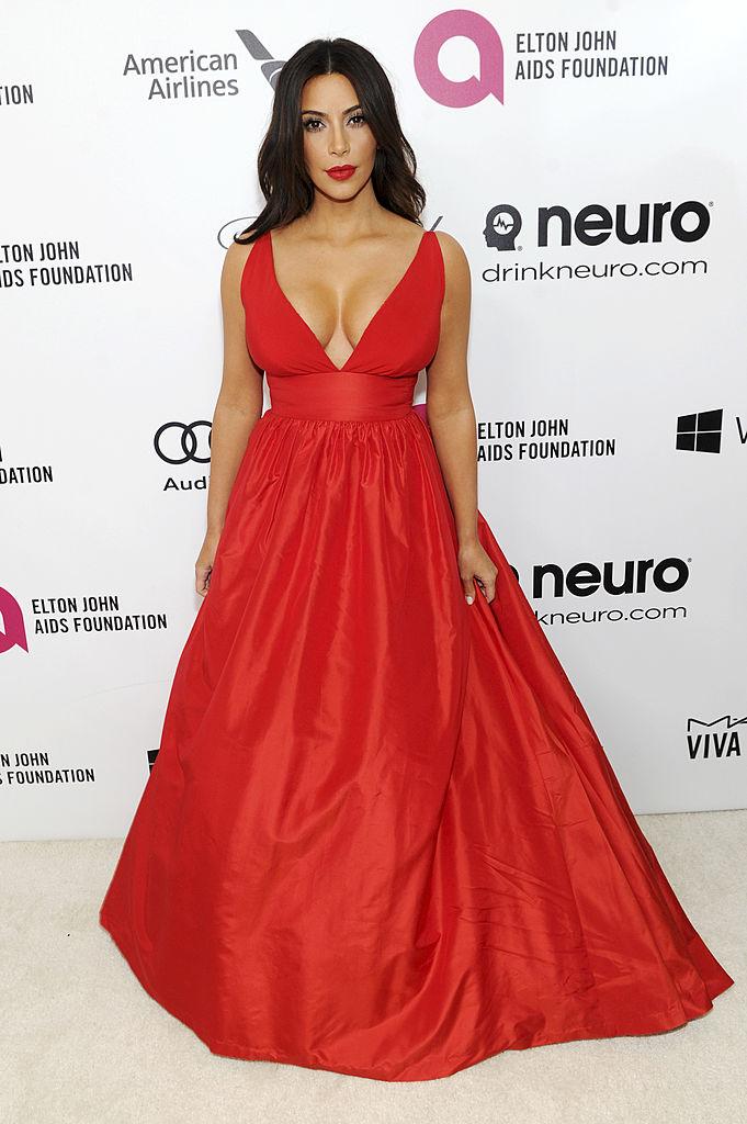 WEST HOLLYWOOD, CA - MARCH 02:  Kim Kardashian attends the 22nd Annual Elton John AIDS Foundation Academy Awards viewing party with Chopard at the City of West Hollywood Park on March 2, 2014 in West Hollywood, California.  (Photo by Dimitrios Kambouris/Getty Images for EJAF)