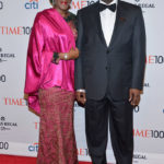 NEW YORK, NY - APRIL 29: Halima Dangote (L) and Honoree Aliko Dangote attend the TIME 100 Gala, TIME's 100 most influential people in the world, at Jazz at Lincoln Center on April 29, 2014 in New York City.  (Photo by Ben Gabbe/Getty Images for TIME)