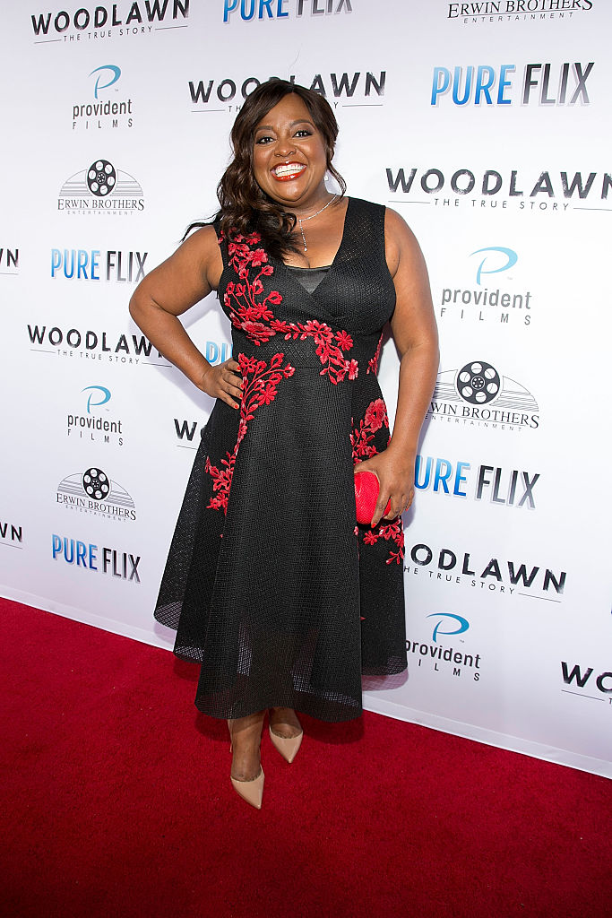 "WESTWOOD, CA - OCTOBER 05: Sherri Shepherd arrives for the premiere of PureFlix Cinema's ""Woodlawn"" at Regency Bruin Theater on October 5, 2015 in Westwood, California. (Photo by Gabriel Olsen/Getty Images)"