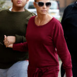 WOKING, UNITED KINGDOM - DECEMBER 20:  Katie Price arrives at the New Victoria Theatre with sons Harvey and Junior on December 20, 2015 in Woking, England. (Photo by Alex B. Huckle/GC Images)