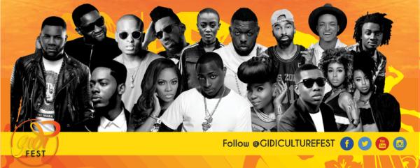 Gidi Fest 2016 Artist Line Up