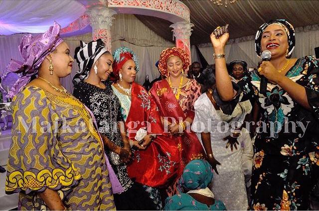 Kannywood star Rukayya Dawayya with the Bride and Step Mothers
