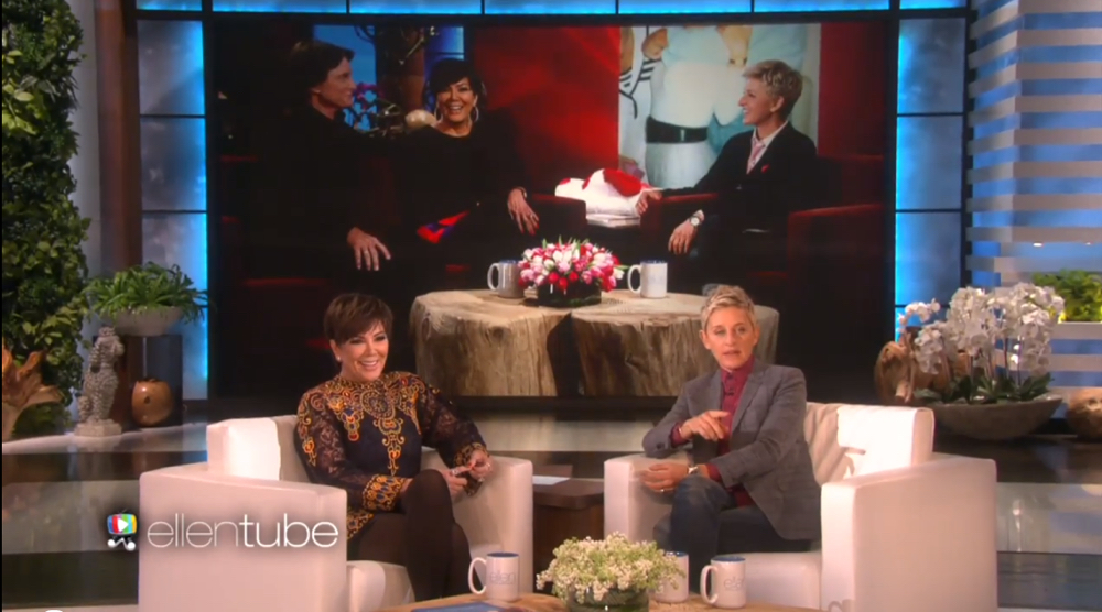 Kris Jenner on Ellen_Caitlyn Jenner_March 2016