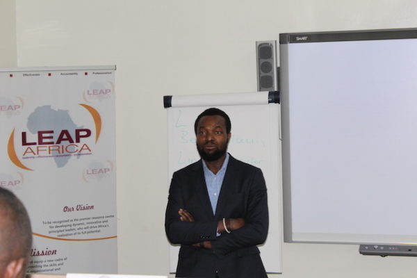 Mr. Bosun Tijani of CcHub at the LEAP Africa 2016 Social Innovator Programme Workshop