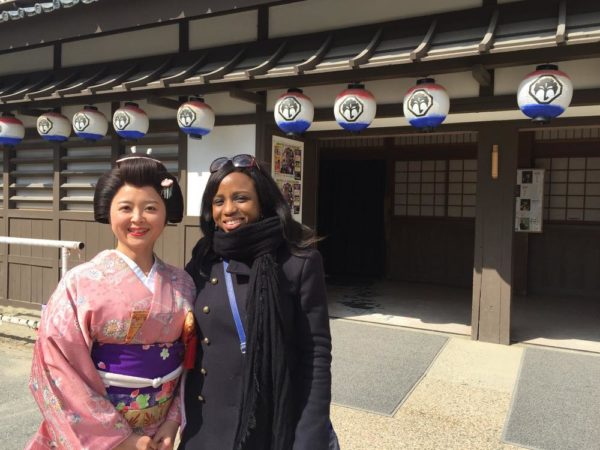 My Japanese twin - at the Japan's Universal studios - home to most Samurai movies
