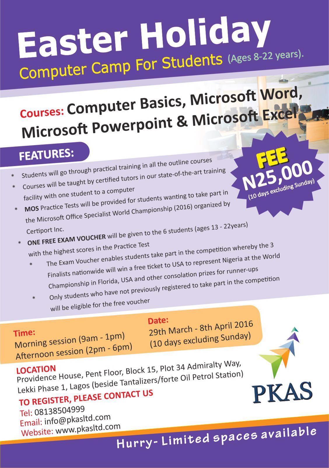 Get a fun training in microsoft office suite at computer camp for pks ltd easter camp xflitez Choice Image