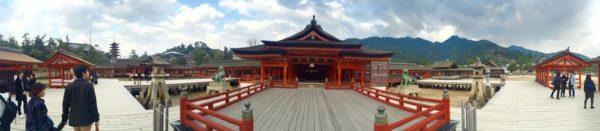 Panoramic view of Itsukushima shrine - Hiroshima