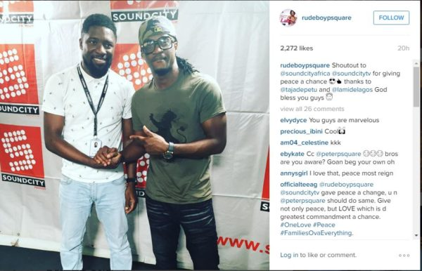 Paul Psquare and Olamide Adedeji
