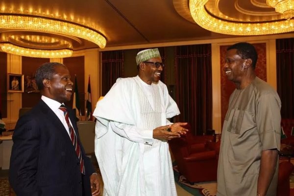 Pastor Adeboye visits Aso Villa, sees President Buhari and Vice President Osinbajo on February 16, 2016