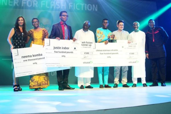 Prize presentation to the shortlisted Flash Fiction writers