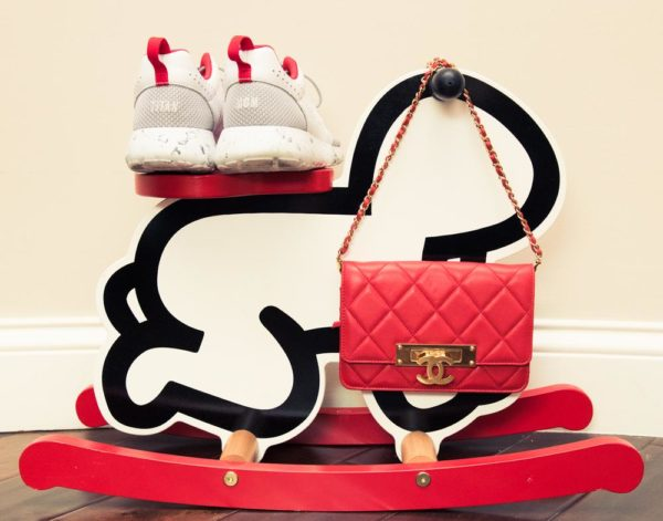 Shoes, Nike; Bag, CHANEL