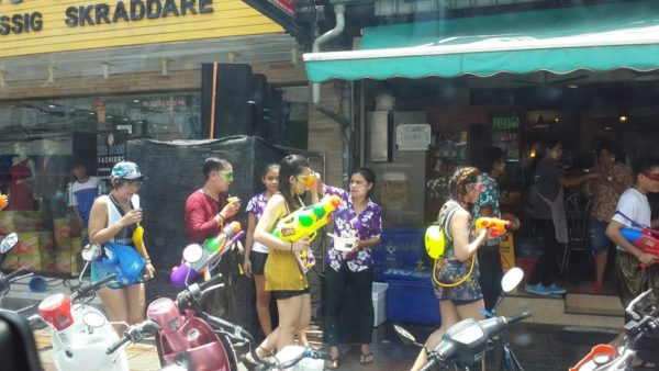 Songkran face painting without permission