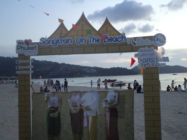 Songkran on the beach