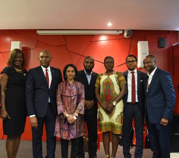 Selection Committee member, Nimi Akinkugbe; Tony Elumelu, Founder, Tony Elumelu Foundation, CEO Tony Elumelu Foundation, Parmindar Vir, Tony and Awele Elumelu Foundation Prize Awardee, Shadi Sabeh, Selection Committee Members; Angelle Kwemo, Sam Nwanze and Accenture Development Partner, Osato Noah during the announcement of the second round selection of 1,000 beneficiaries of the Tony Elumelu Entrepreneurship Programme (TEEP) in Lagos