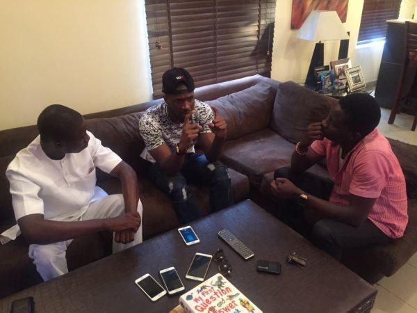 THENETNG publisher Ayeni Adekunle & Chief correspondent Dayo Showemimo at Peter Okoye's Home