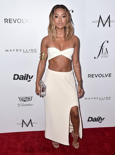 """WEST HOLLYWOOD, CA - MARCH 20:  Actress Karrueche Tran attends the Daily Front Row """"Fashion Los Angeles Awards"""" at Sunset Tower Hotel on March 20, 2016 in West Hollywood, California.  (Photo by Alberto E. Rodriguez/Pret-a-Reporter/Getty Images)"""