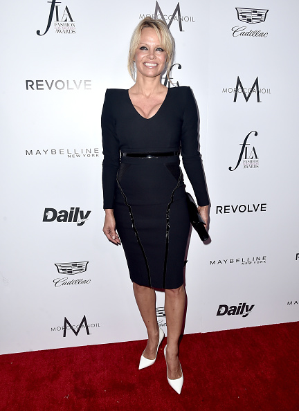 "WEST HOLLYWOOD, CA - MARCH 20:  Actress Pamela Anderson attends the Daily Front Row ""Fashion Los Angeles Awards"" at Sunset Tower Hotel on March 20, 2016 in West Hollywood, California.  (Photo by Alberto E. Rodriguez/Pret-a-Reporter/Getty Images)"