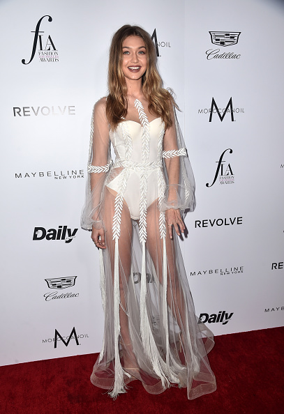 "WEST HOLLYWOOD, CA - MARCH 20:  Model Gigi Hadid attends the Daily Front Row ""Fashion Los Angeles Awards"" at Sunset Tower Hotel on March 20, 2016 in West Hollywood, California.  (Photo by Alberto E. Rodriguez/Pret-a-Reporter/Getty Images)"