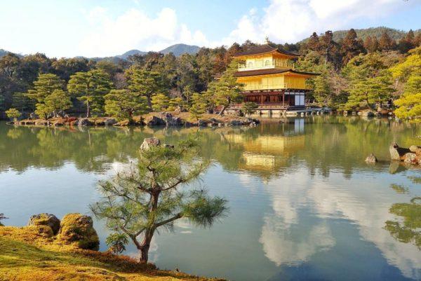 The Golden Pavillion at Kinakuji temple - Kyoto 2