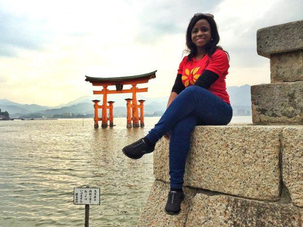 The great Torii - famous gate of the floating Itsukushima shrine - Hiroshima