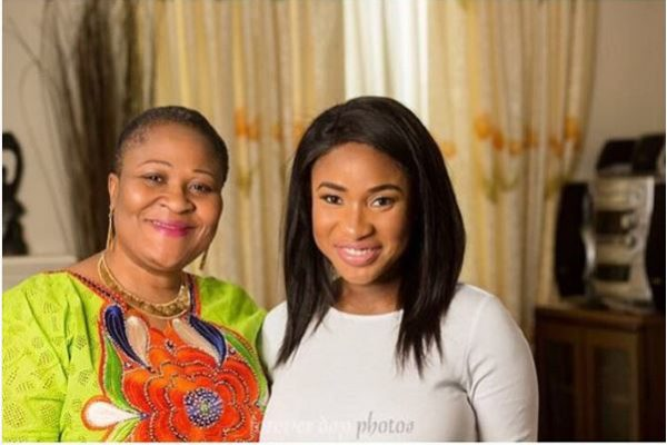 Tonto Dikeh-Churchill with her Mother-in-Law