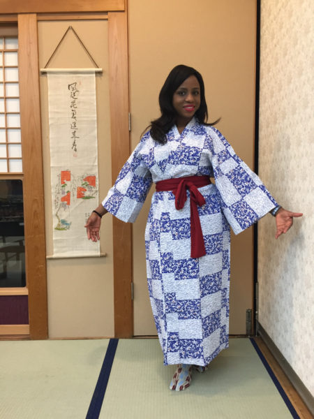 Traditional Japanese dining attire