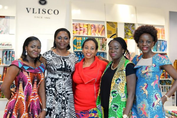 Vlisco Nigeria Team, Vlisco Ambassador Mrs. Dotun Akande and some Vlisco loyal customers