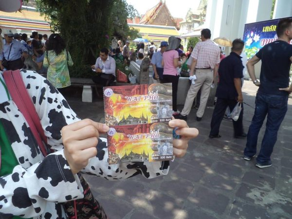 Wat Pho temple tickets