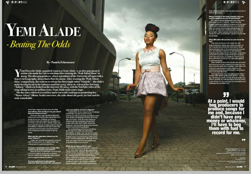 Yemi Aalde's Vanguard Allure Feature