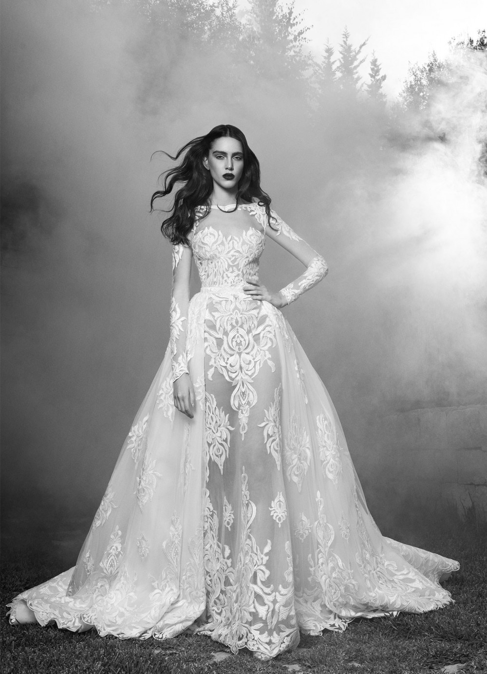 Zuhair Murad_Fall 2016_Bridal_Tammy with Overskirt