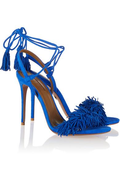 aquazzura wild thing sandals bella naija march 2016 blue1