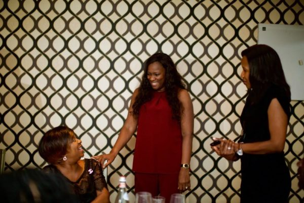 Villa Monticello co-owners Laurie Awotwi and Efua Oduntun greeting a guest