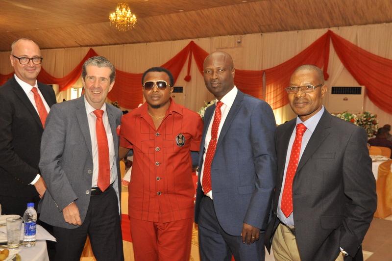 Area Manager, Campari International, Michael Reder, Winner Ndubuisi Onyenanu, General Manager BML, OLUSOLA AJAYI and National Sales Manager BML, Paul Omekwe